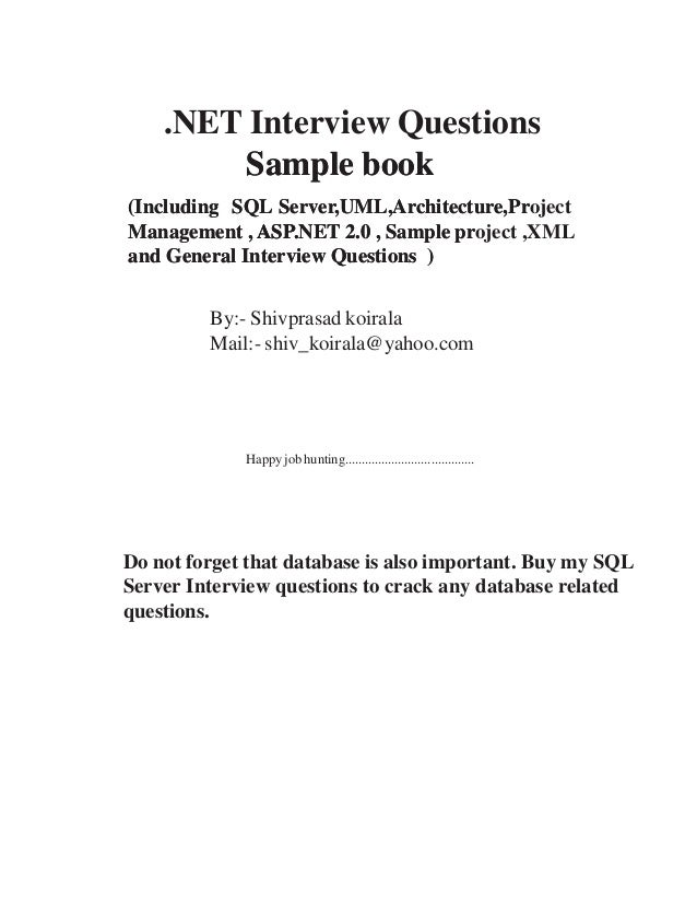 project management interview questions shivprasad koirala pdf free download