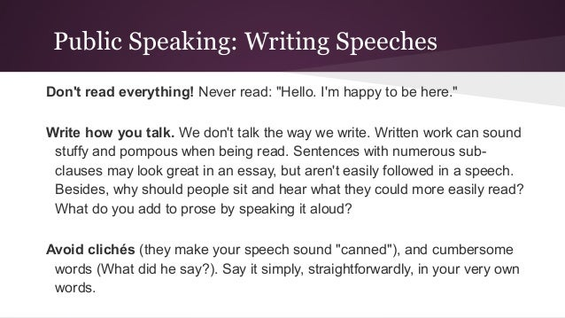public speaking important essay Public speaking: public speaking is speaking to a group of people in a structured, deliberate manner intended to inform, influence, or entertain the listeners ( is an oral presentation in which a speaker addresses an audience).