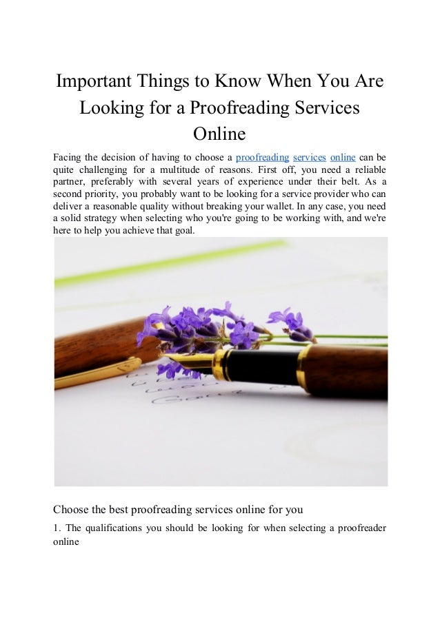 Cheap online proofreading services