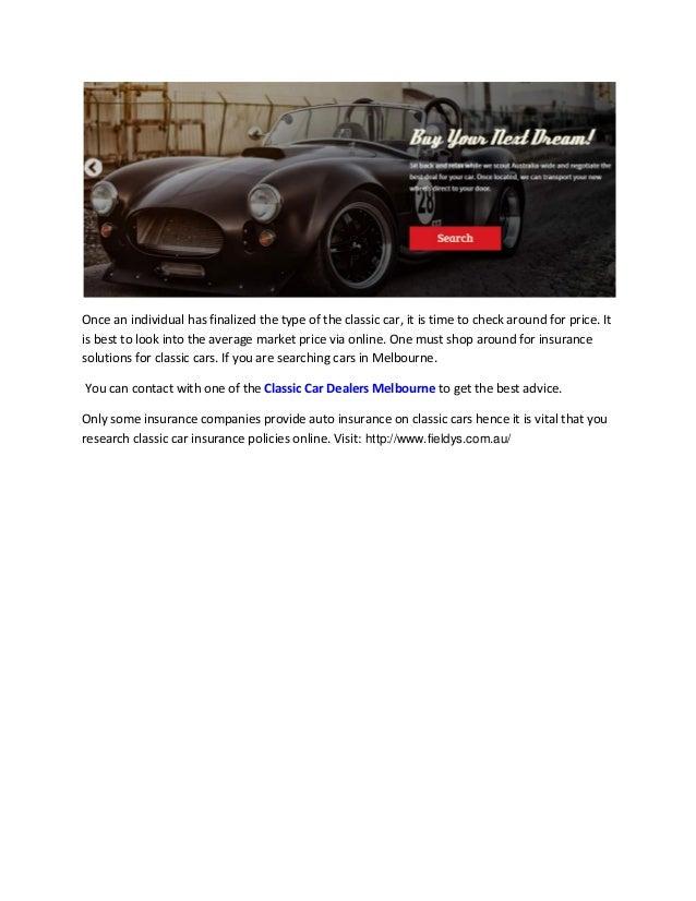 Classic Car Dealers Melbourne