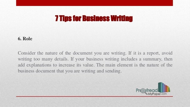 Tips for Better Business Writing
