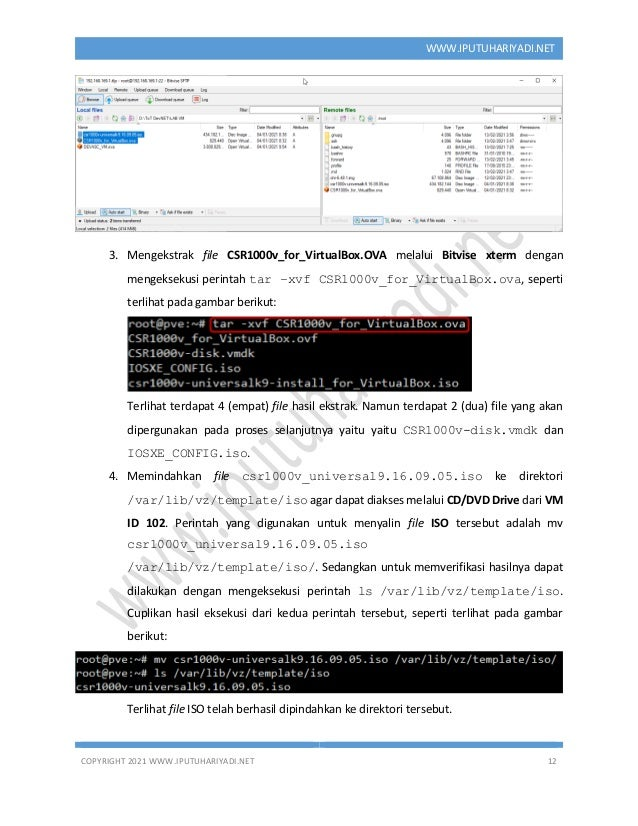 COPYRIGHT 2021 WWW.IPUTUHARIYADI.NET 12 WWW.IPUTUHARIYADI.NET 3. Mengekstrak file CSR1000v_for_VirtualBox.OVA melalui Bitv...