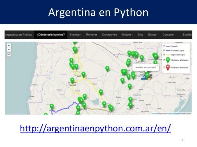 Argentina en Python http://argentinaenpython.com.ar/en/ 15