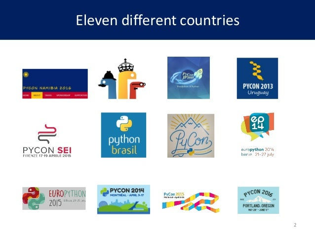 Eleven different countries 2