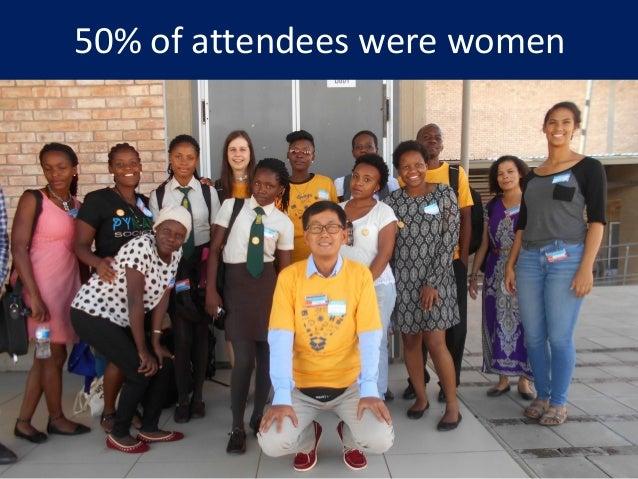 50% of attendees were women 25