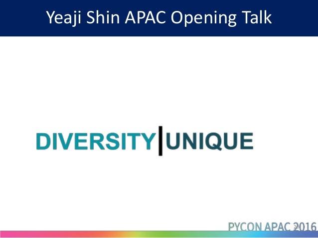 Yeaji Shin APAC Opening Talk 29