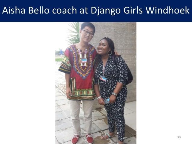 Aisha Bello coach at Django Girls Windhoek 33