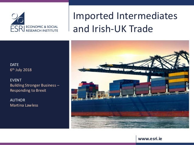Imported Intermediates and Irish-UK Trade
