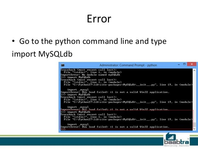 Importerror dll load failed is not a valid win32 application Python…