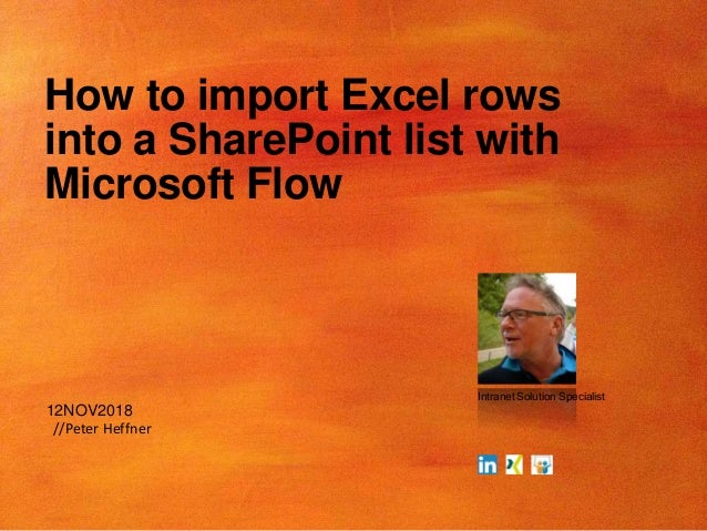 Import excel rows to sharepoint list