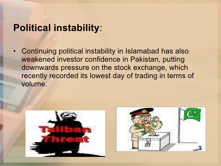 PERFORMANCE OF STOCK MARKET IN POLITICAL INSTABILITY: A CASE STUDY OF PAKISTAN