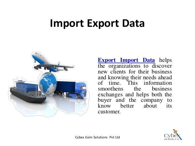 Import Export Data Company - Cybex Exim Solutions