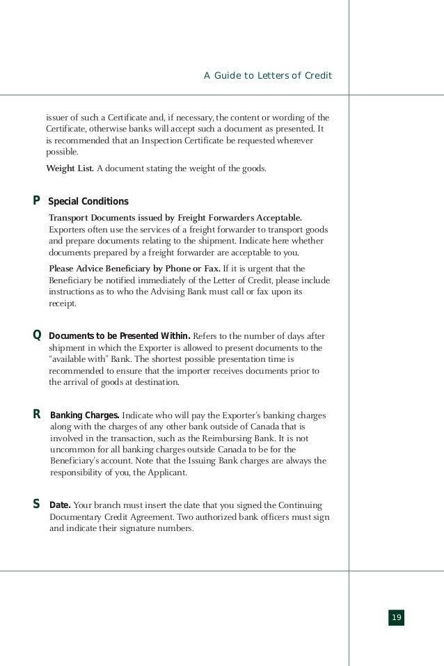 Import export guide letter of credit a guide to letters of credit 21 yadclub Image collections