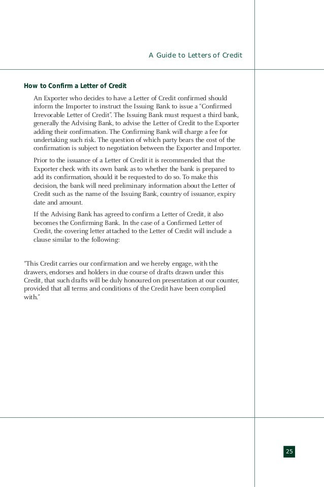Import export guide - Letter of Credit