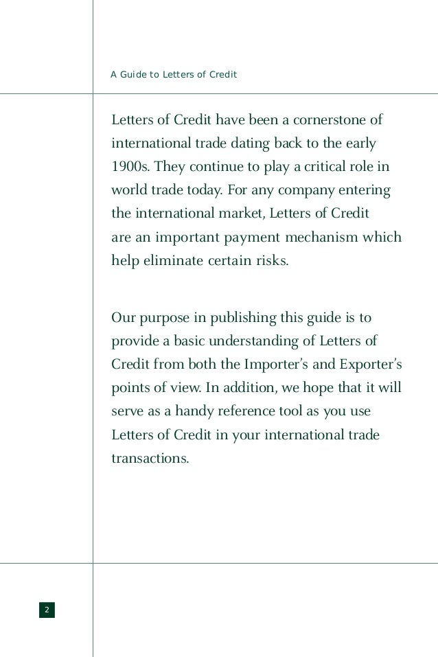 letter of credit import export guide letter of credit 1900
