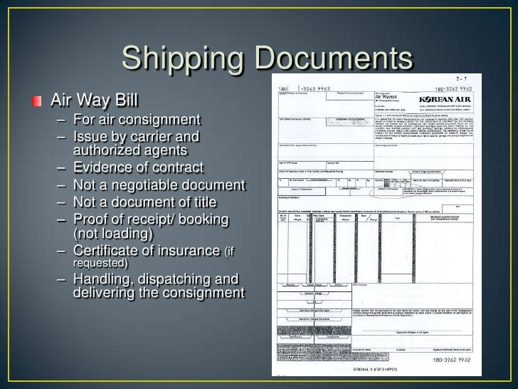 • Packing List  • Indicates the content and description of the cargo  (aka Weight measurement list, Cargo manifest, Cargo ...