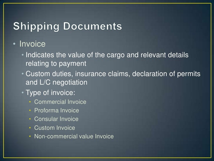 • Shipping Guarantee  • To clear cargo without original contract of carriage    document e.g. Original B/L  • Indemnify th...