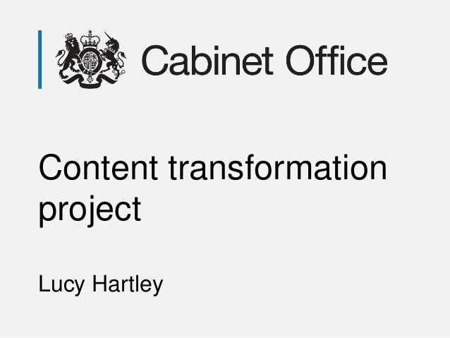 Content transformation project Lucy Hartley