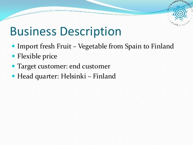 Importing Fruits and Vegetables from Spain to Finland