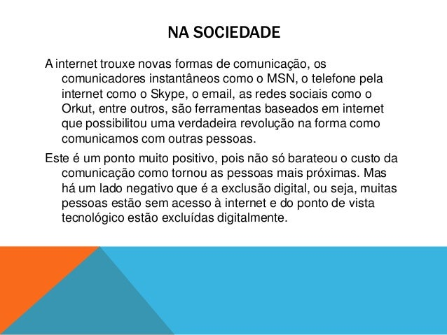 Importancia Da Internet