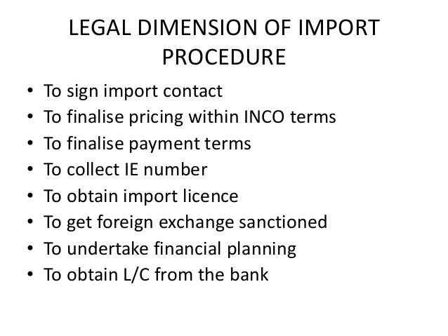 export procedure formalities Import and export procedures customs declarations and documentation, dealing with hm revenue and customs (hmrc), using transit and processing systems, obtaining duty relief.