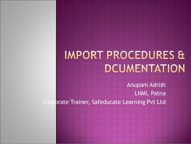 Anupam Ashish LNMI, Patna Corporate Trainer, Safeducate Learning Pvt Ltd