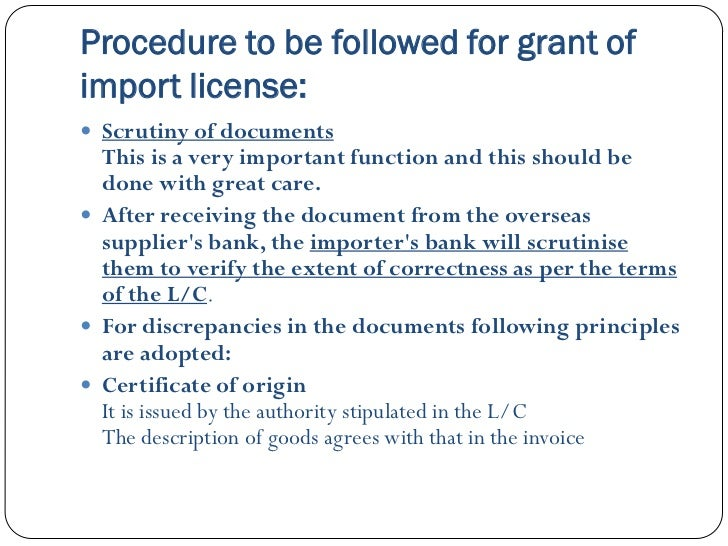 import procedures An import is a good brought into a jurisdiction, especially across a national border, from an external source the purchaser of the exotic good is called an importer an import in the receiving country is an export from the sending country importation and exportation are the defining financial.