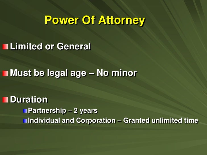 Import requirements 1 8 11 for Unlimited power of attorney