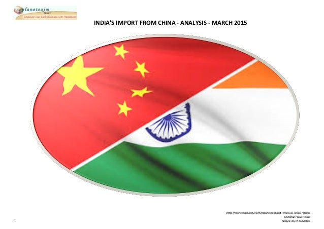 Imports from china to india