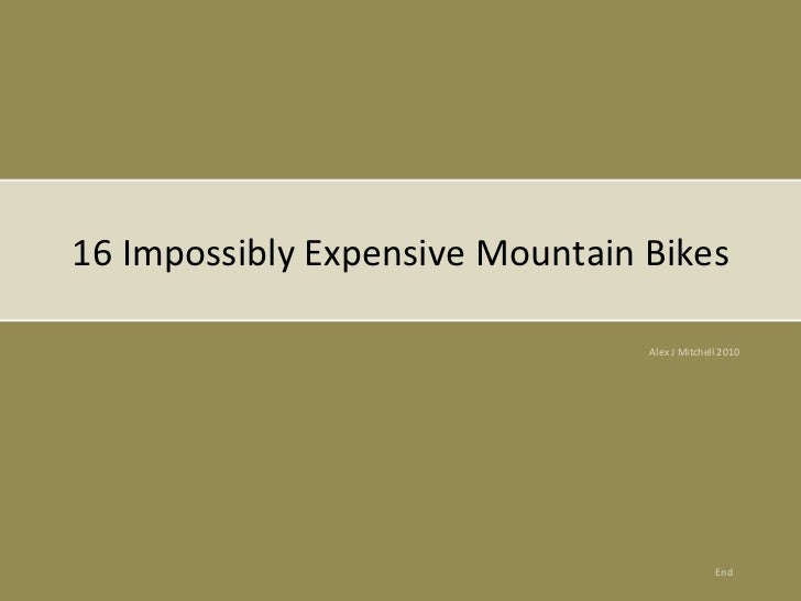 Mitchell Car Values >> 16 Impossibly Expensive Mountain Bikes