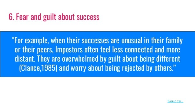 """""""For example, when their successes are unusual in their family or their peers, Impostors often feel less connected and mor..."""