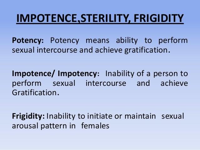 Impotence, sterility, artificial insemination Slide 2