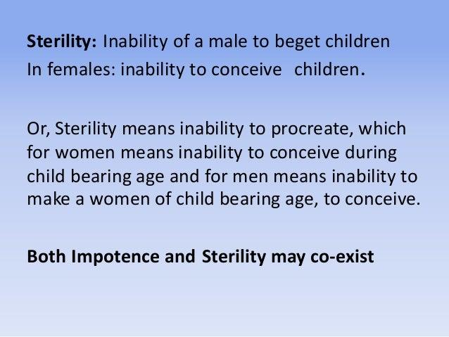 Impotence, sterility, artificial insemination Slide 3
