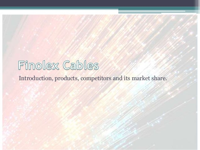 Introduction, products, competitors and its market share.