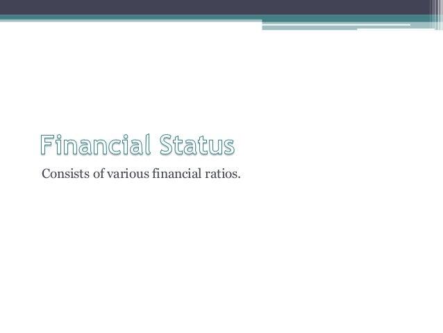 Consists of various financial ratios.
