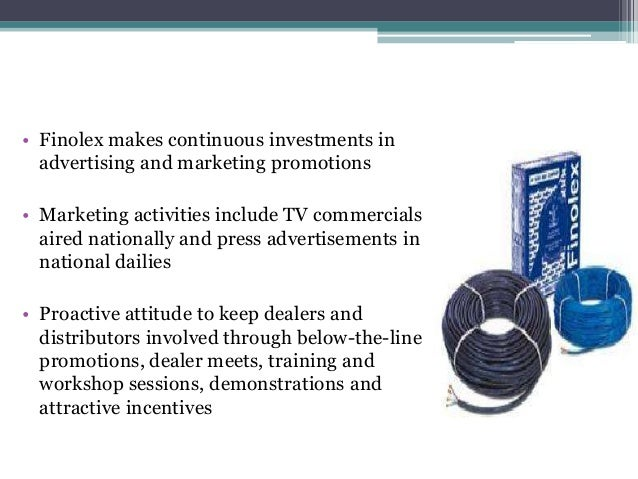 SWOT Analysis • 20% growth in electrical cable industry • Industry growing alongwith economic growth • Fibre optics market...
