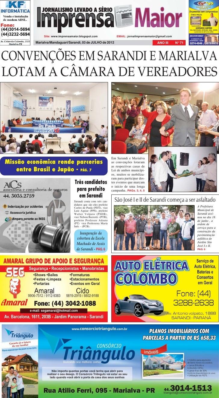 Site: www.imprensamaior.blogspot.com                   EMAIL: jornalimprensamaior@gmail.com          Marialva/Mandaguari/S...