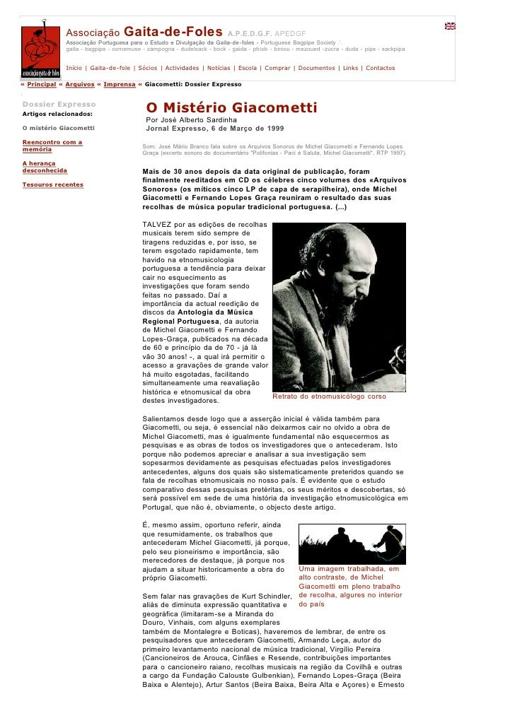 Associação           Gaita-de-Foles                        A.P.E.D.G.F. APEDGF              Associação Portuguesa para o E...