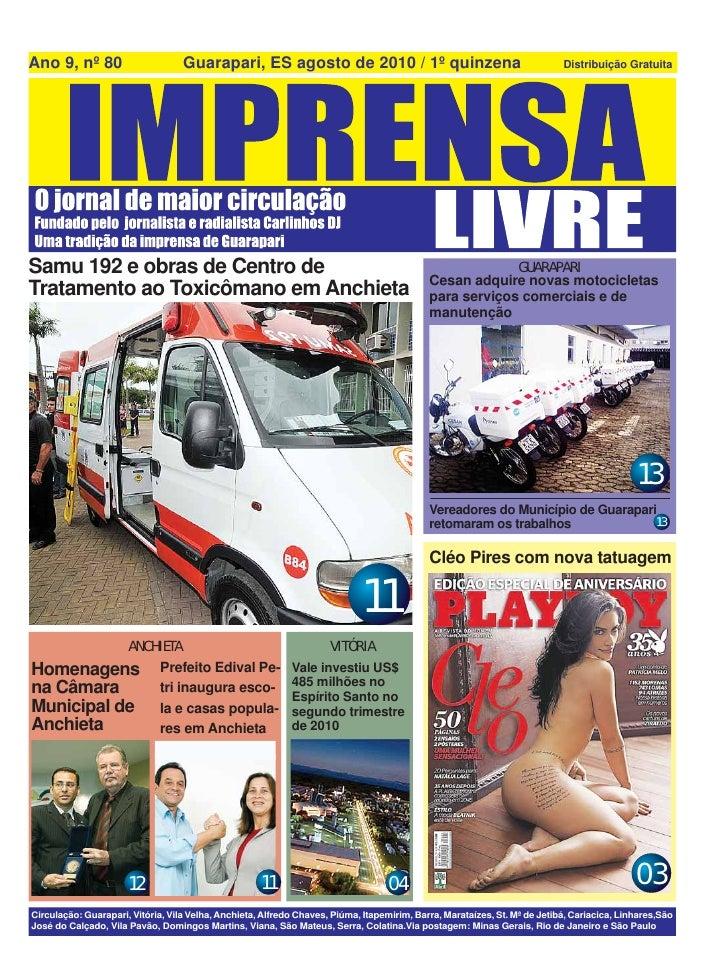 Jornal Imprensa Livre - Agosto