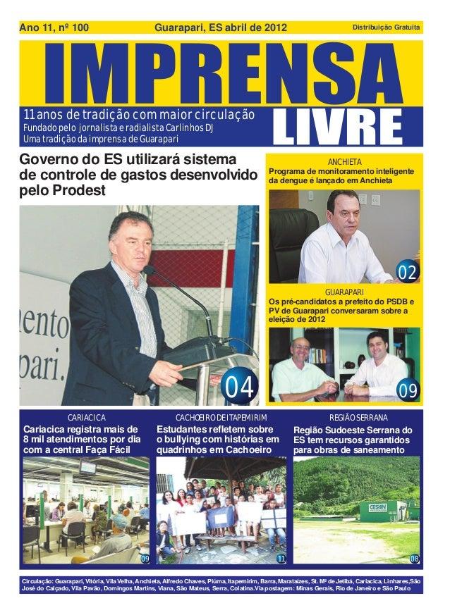 Ano 11, nº 100                                   Guarapari, ES abril de 2012                                              ...
