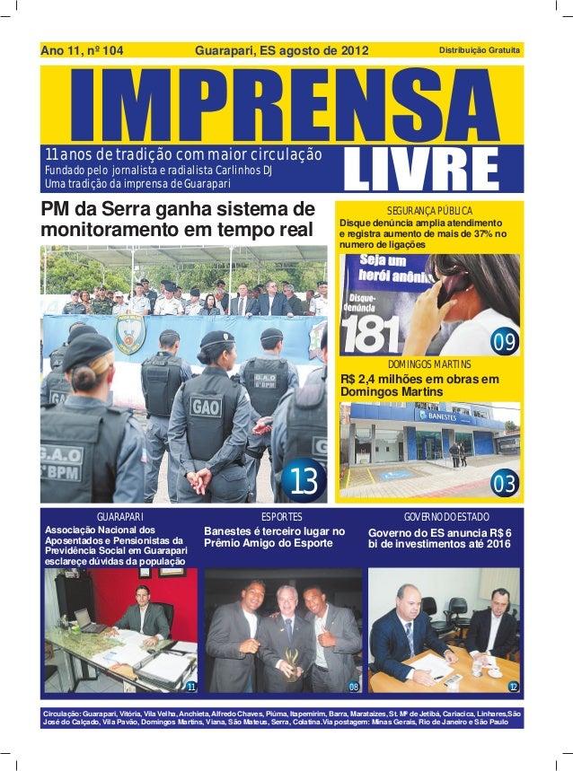 Ano 11, nº 104                                   Guarapari, ES agosto de 2012                                             ...