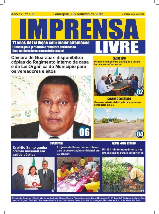 Ano 12, nº 106                                Guarapari, ES outubro de 2012                                               ...