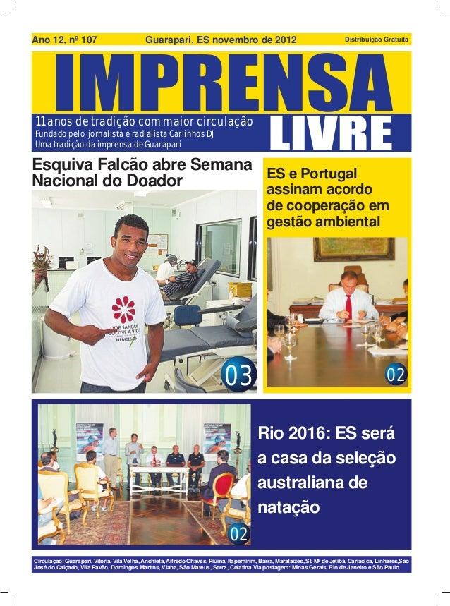 Ano 12, nº 107                              Guarapari, ES novembro de 2012                                                ...