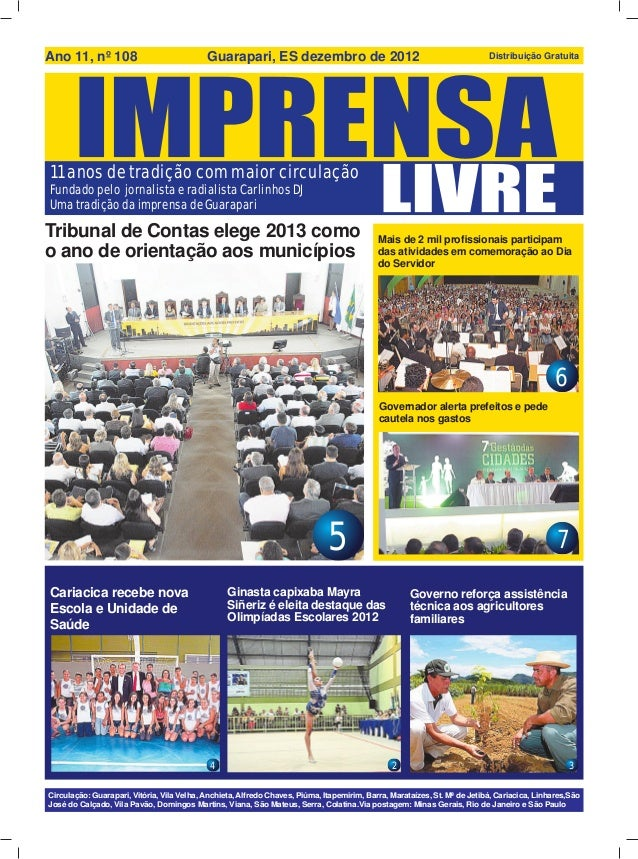Ano 11, nº 108                              Guarapari, ES dezembro de 2012                                                ...