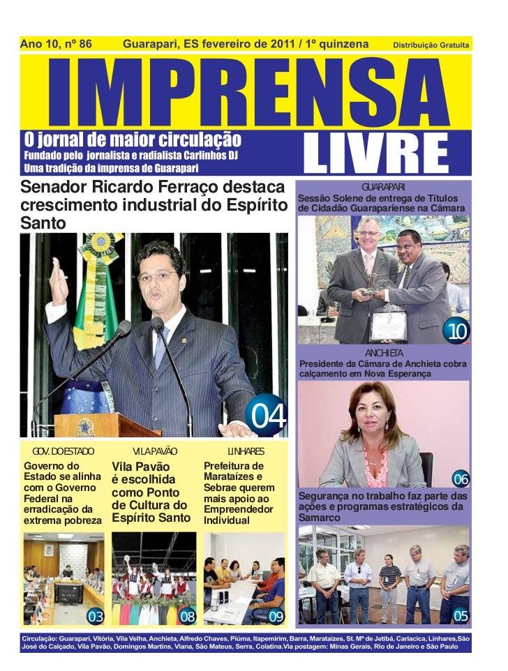 Senador Ricardo Ferraço destaca                                      GUARAPARI                                            ...