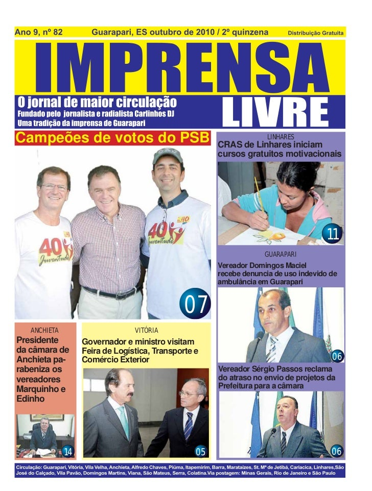 Campeões de votos do PSB                                             LINHARES                                             ...