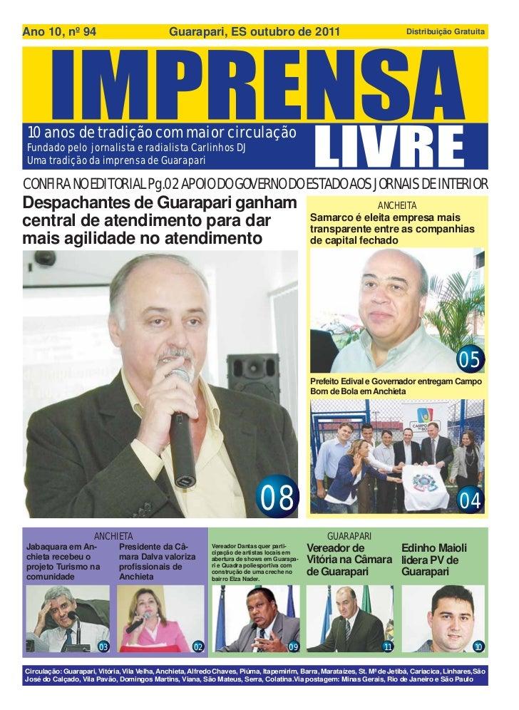 Ano 10, nº 94                                 Guarapari, ES outubro de 2011                                               ...