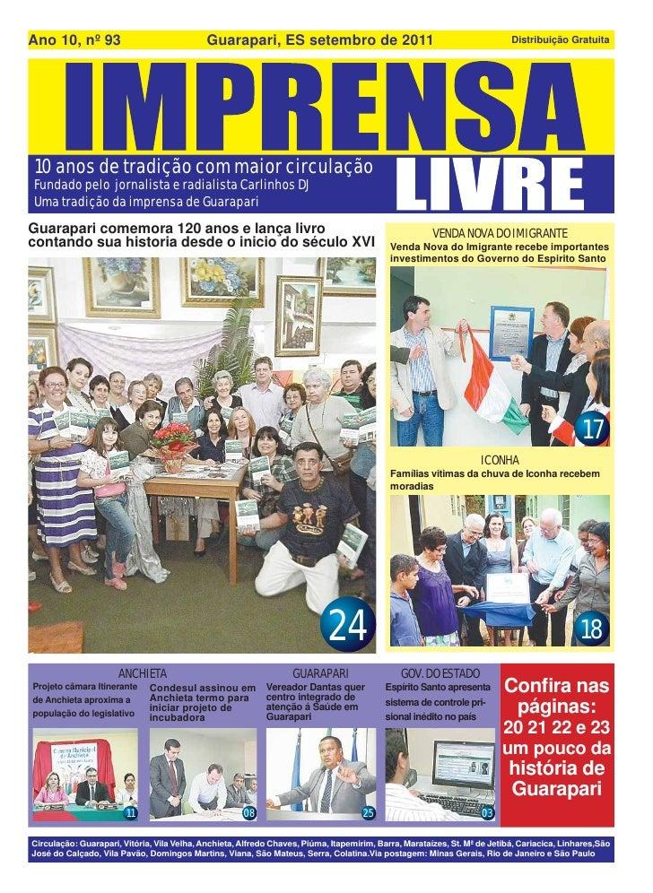 Ano 10, nº 93                                Guarapari, ES setembro de 2011                                               ...