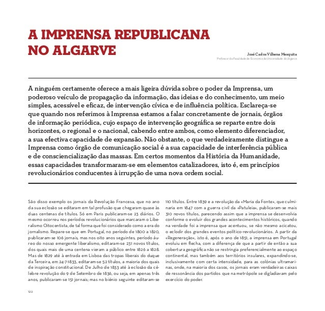 A Imprensa Republicanano Algarve                                                                                          ...