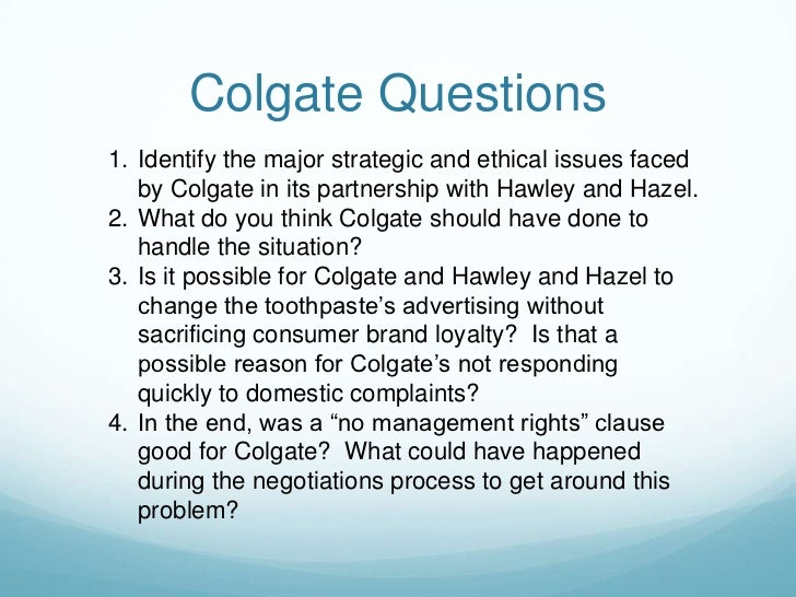 """colgate distasteful toothpaste """"colgate distasteful toothpaste"""" case study case overview:- colgate is a very well known company in the united states and is remembered for its toothpaste."""